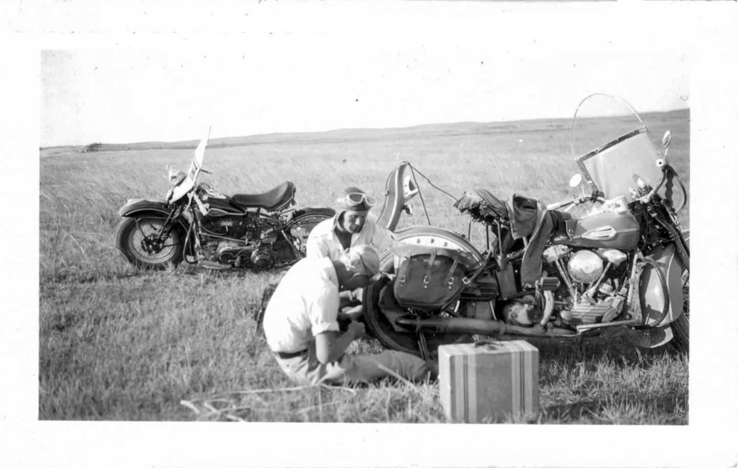 1st day out 1st flat on Ernies machine in sand hills of Nebraska