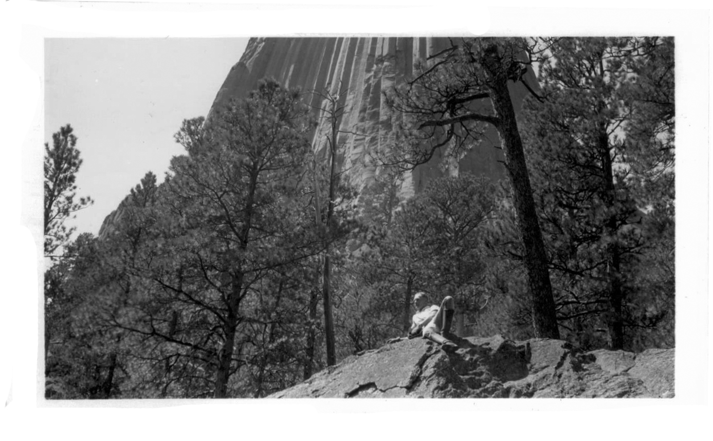 1941 GG35 Ernie and Raymond on East side of Devil's Tower