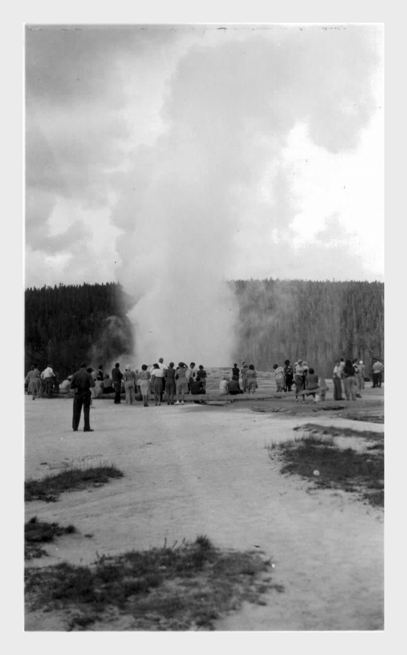 Old Faithful at Yellowstone.