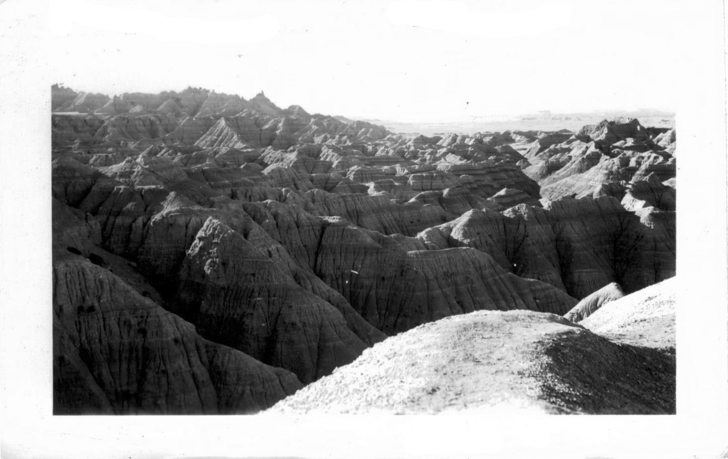 Badlands - Looking East about 7:30 AM.