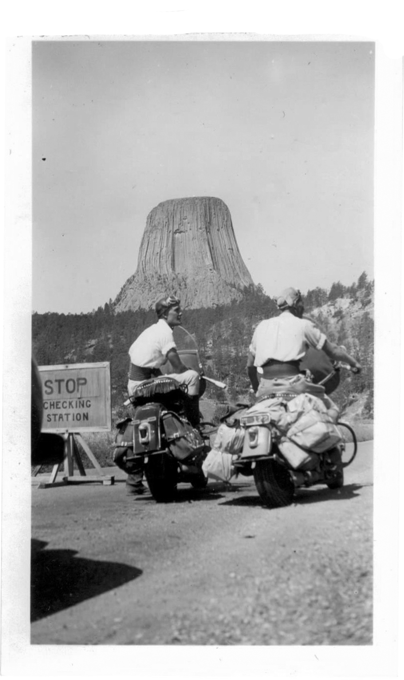 At Entrance to Devil's Tower Monument - It cost $1 to get in here.