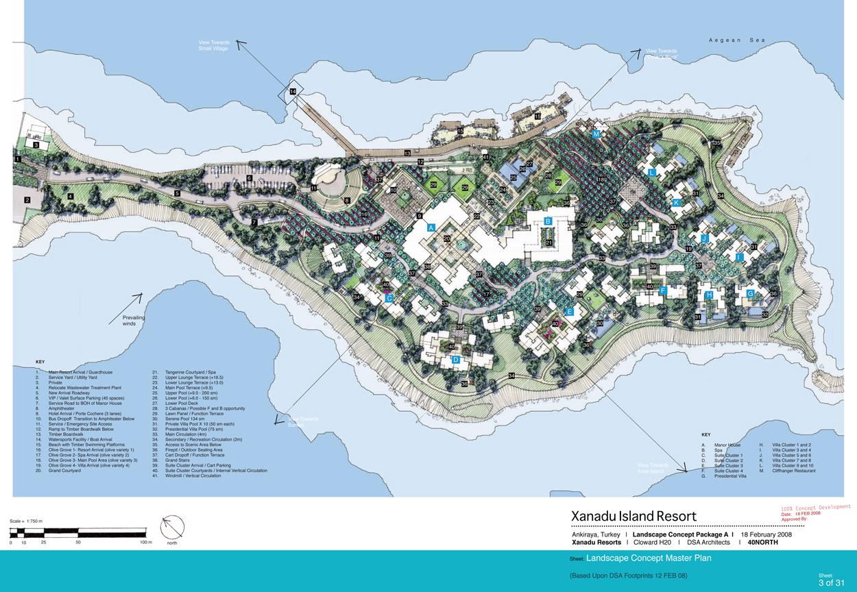 40NORTH Landscape Architects and Planners » XANADU ISLAND RESORT